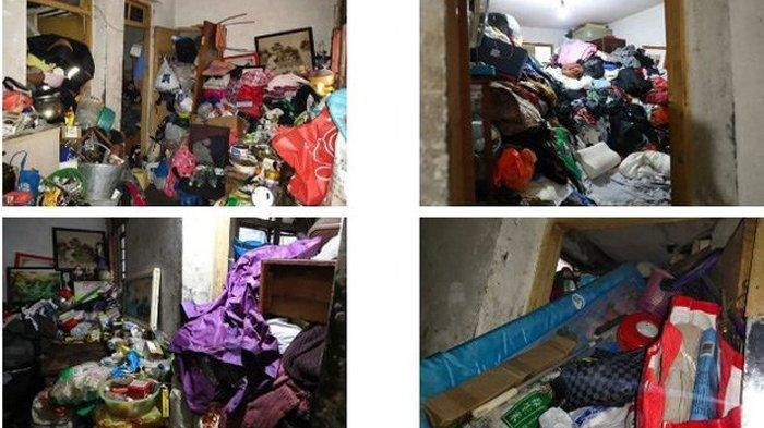 Penampakan rumah Dong yang penuh sampah busuk dan serangga