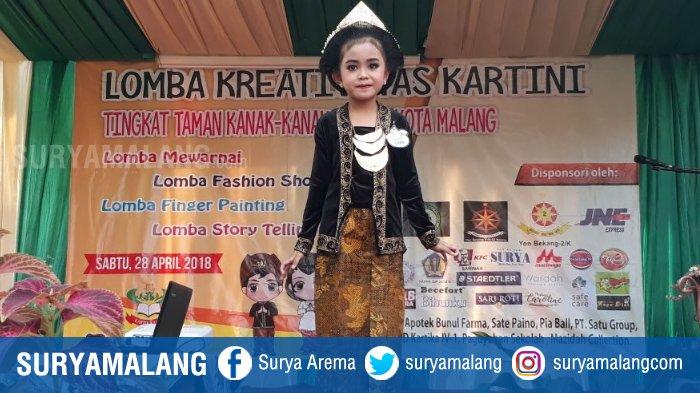 Siswa TK Kota Malang Bergaya di Panggung Fashion Show
