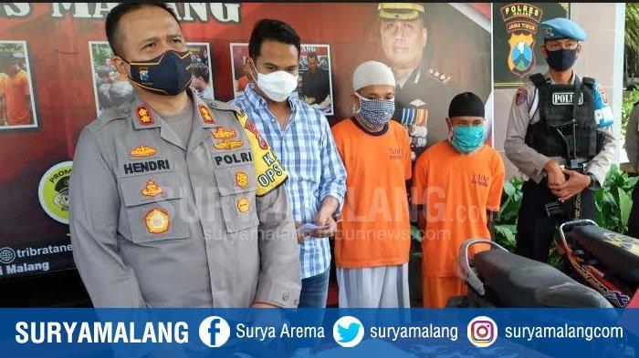 Maling Motor Senior dan Junior Ketiban Sial karena Bensin Motor Curian Habis, Dibekuk Polres Malang