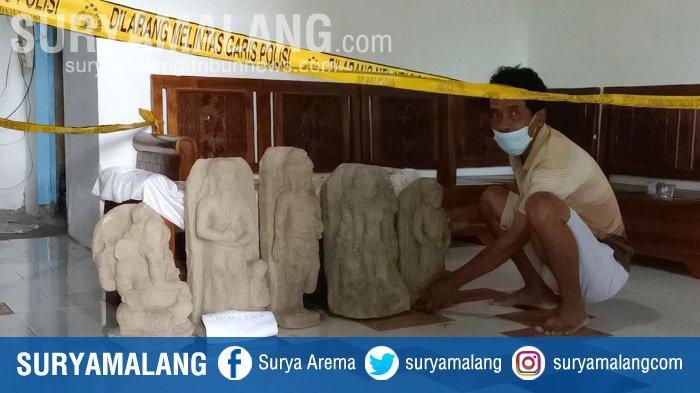 Gali Tanah untuk Bercocok Tanam, Warga Kediri Temukan Lima Arca, di Antaranya Diduga Ganesha & Siwa