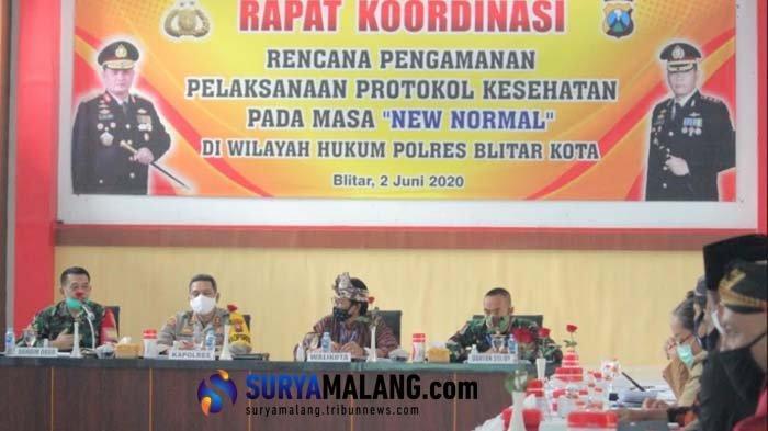 Polres Blitar Kota Siapkan Pengamanan Pelaksanaan New Normal di Moda Transportasi dan Pusat Belanja