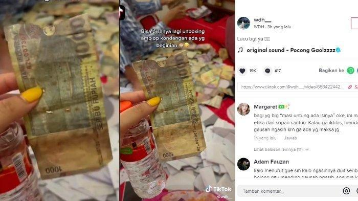 Pengantin baru kaget saat mendapati uang amplop Rp 1.000 di ranjang