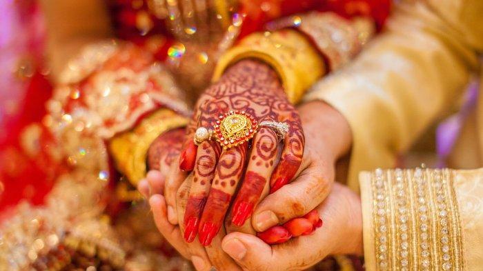 Ilustrasi pernikahan di India