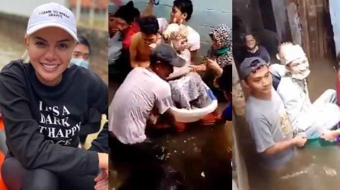 Pengantin Viral Terjang Banjir Dapat Hadiah dari Nikita Mirzani & Ivan Gunawan, Diarak Pakai Ember