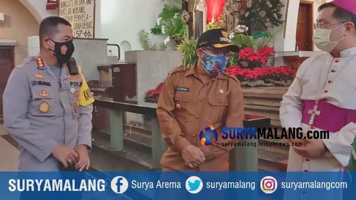 Forkopimda Kota Malang Patroli Mengecek Gereja dan Pos Pengamanan Jelang Natal dan Tahun Baru 2021