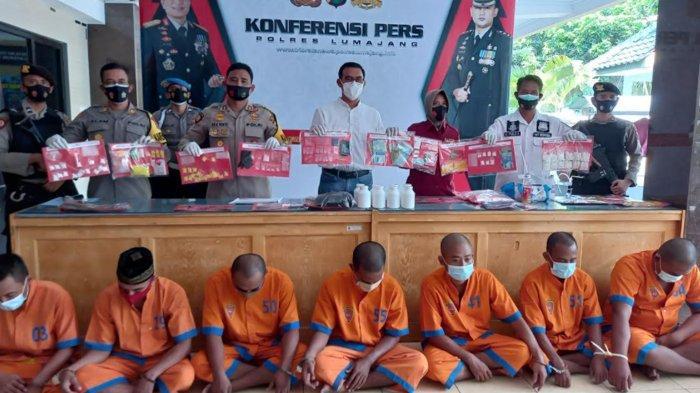 Polres Lumajang Tangkap 7 Pengedar Sabu, Amankan 24 Gram Sabu