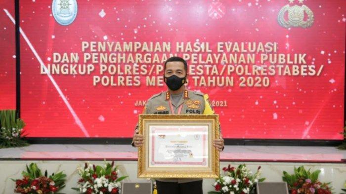 Polresta Malang Kota Raih Penghargaan Predikat Pelayanan Prima 2020 dari Kemenpan RB