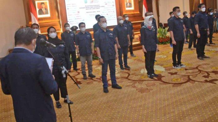 Pengurus AMSI Jatim 2020-2023 Dilantik, Gubernur Khofifah Optimistis AMSI Bangun Literasi Digital