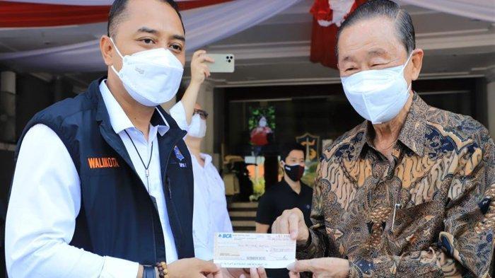 Langsung Pakai Cek, Pengusaha ini Sumbang Rp 2 Miliar Untuk Penanganan Pandemi Covid-19 di Surabaya