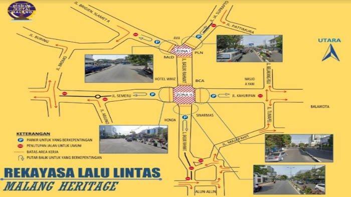 Detail Rekayasa Lalu Lintas di Sekitar Jalan Basuki Rahmat, Kota Malang Sampai 20 Desember 2020