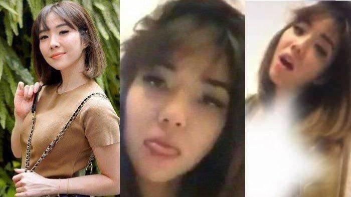 Penyanyi Gisella Anastasia alias Gisel dan pemeran wanita dalam video syur yang viral di Twitter