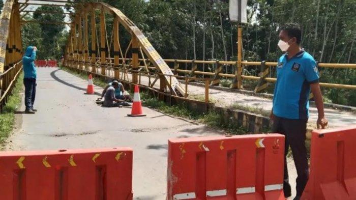 Ada Pembenahan Jembatan, Jalur Ngampon-Bendo Trenggalek Tertutup untuk Kendaraan Besar