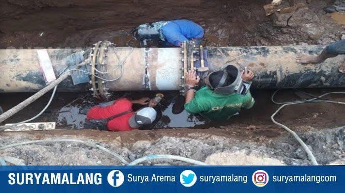 Penyebab & Kronologi Bocornya Pipa Air PDAM di Kota Malang, Terjadi 2 Kali Kebocoran Pipa Besar