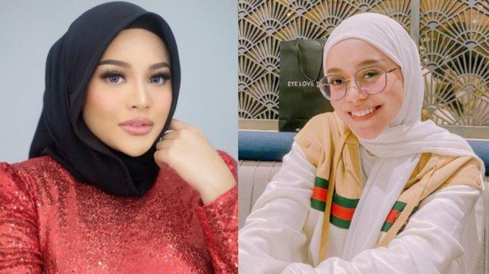 Perbedaan perut buncit Lesti Kejora dan Aurel Hermansyah
