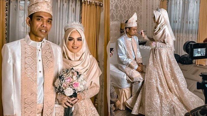 Perhatian Fatimah ke Ustadz Abdul Somad Bikin Iri, Cantik Bak Ratu Tetap Mau Jadi Aspri di Resepsi