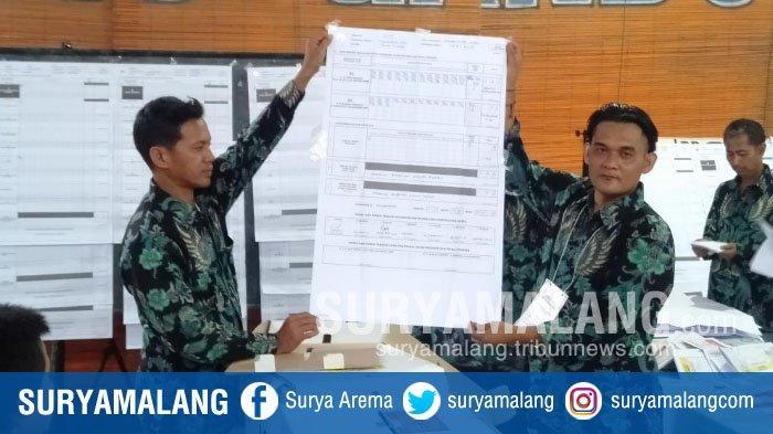 Hasil Quick Count Pilpres 2019, Pasangan Jokowi-Ma'ruf Amin Menang di TPS Plt Bupati Malang, Sanusi