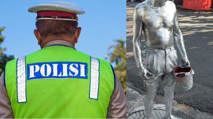 Perjuangan Agus Pensiunan Polisi Cari Uang Jadi Manusia Silver, Aksi Ngemis Viral Kini Dapat Bantuan