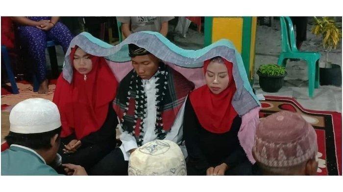 VIDEO : Pernikahan Viral di Kalimantan, 1 Pria Nikahi 2 Wanita dengan Mahar Rp 10.000