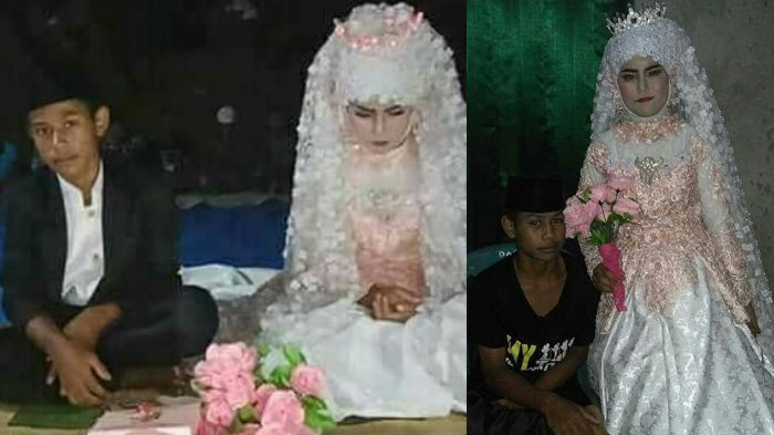 Heboh Pernikahan Bocah SMP, Kali Ini Dandanan Si Cewek Jadi Sorotan, Netizen Sebut Sang Mantan