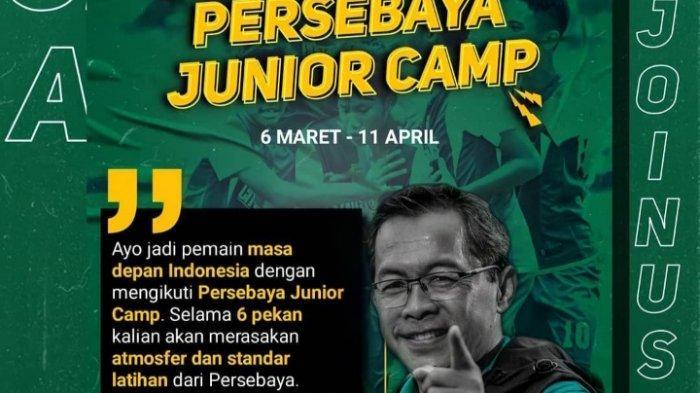Syarat Pendaftaran Persebaya Junior Camp, Peserta Dapat Apparel Resmi Bajol Ijo