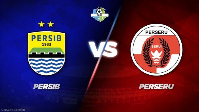 Link Live Streaming Persib Bandung Vs Perseru, Jumat Ini 18.30 WIB, Maung Bandung Lawan Rekor Buruk