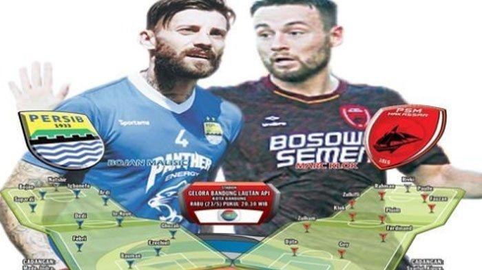 Link Live Streaming Indosiar Persib Bandung vs PSM Makassar Gojek Liga 1 23 Mei 2018 Malam ini