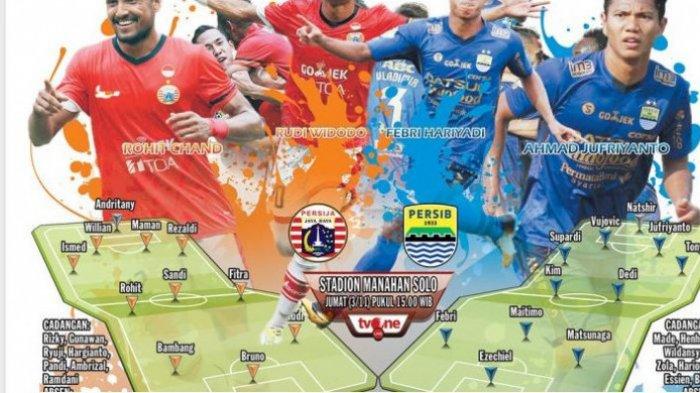 Persib Bandung Hadapi Persija Jkarta di Solo, Ini Prediksi Susunan Pemain Kedua Tim