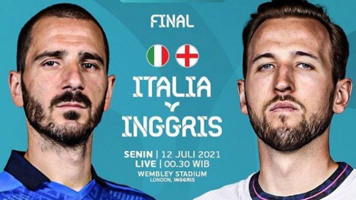 Prediksi Pertandingan Italia Vs Inggris Final Piala Eropa 2020, Akankah Terjadi Drama di Lapangan ?