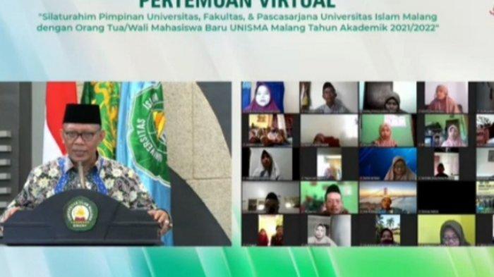 Pimpinan Unisma Silahturahmi Virtual Dengan Wali Mahasiswa