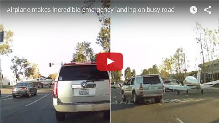 VIDEO - Mesin Mati, Pesawat Mendarat Darurat di Jalan Raya