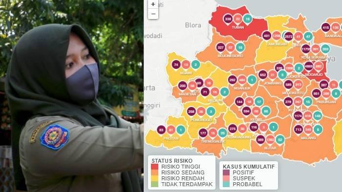 Update Zona Merah di Jawa Timur Kamis 27 Agustus: Ngawi Zona Kuning, Nganjuk, Banyuwangi Zona Oranye
