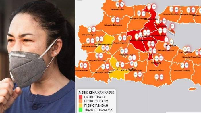 Update Zona Merah di Jawa Timur Minggu 2 Agustus: Batu Zona Merah, Kab Malang Oranye, Madiun Kuning