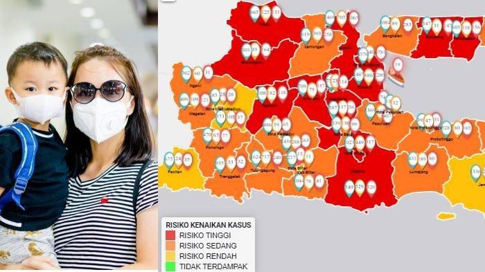 Update Zona Merah di Jawa Timur Jumat 10 Juli: Kab Malang Zona Merah, Lamongan Oranye, Jember Kuning