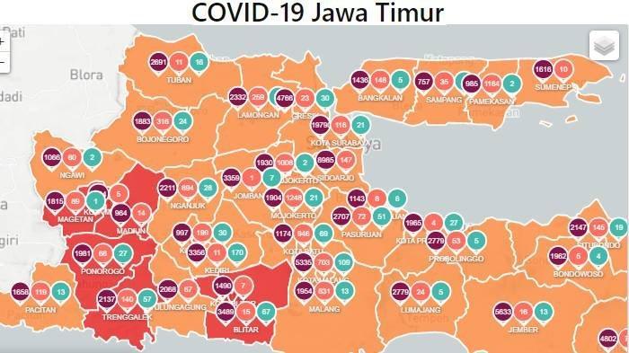 Daftar Zona Merah Jawa Timur Hari Ini Sabtu 30 Januari: Kabupaten Madiun, Kabupaten Blitar & Magetan