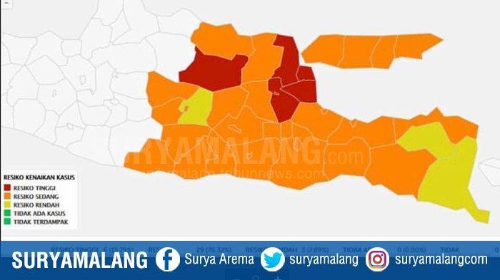 Zona Merah Jatim Bersisa Enam Daerah, Zona Kuning Ada Tiga Kabupaten, Pompa Optimisme Cegah Covid-19
