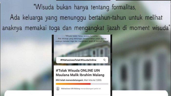 Muncul Petisi Menolak Wisuda Online UIN Maliki Malang, Reaksi Calon Wisudawan
