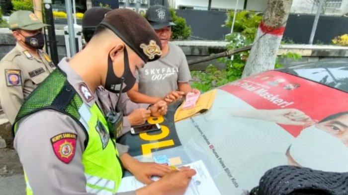 Patroli Penertiban Premanisme di Kota Blitar, Petugas Gabungan Tindak 4 Jukir Liar