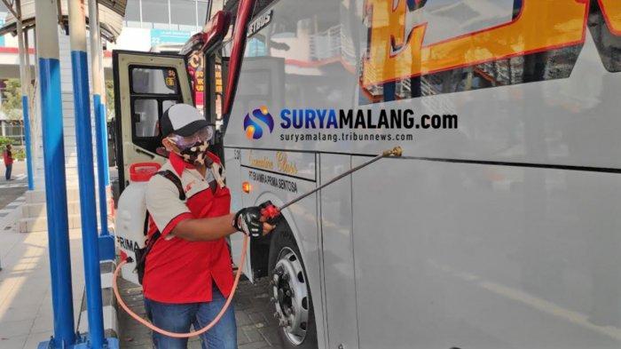 Arus Penumpang di Terminal Purabaya pada Libur Panjang Imlek 2021 Turun