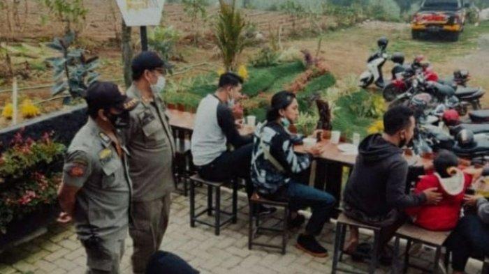 Satpol PP Kota Batu Intensifkan Bubarkan Berkerumun