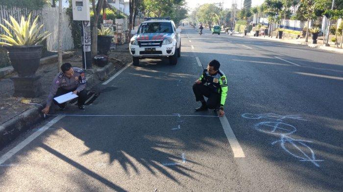 Pengendara Sepeda Motor Jatuh Dan Meninggal Setelah Menabrak Penyeberang Jalan di Kota Batu