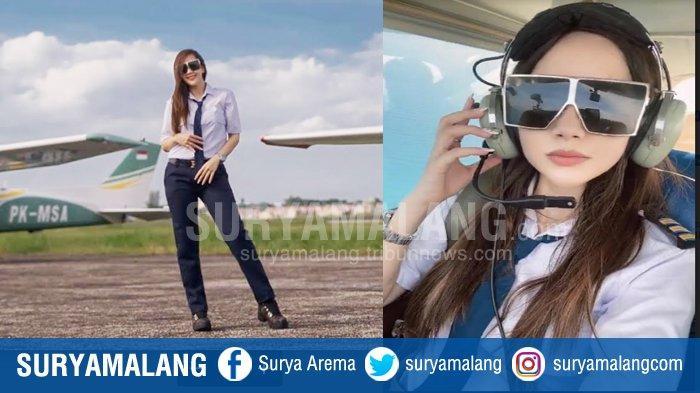 Pilot Cantik yang Juga Sosialita Crazy Rich Surabaya, Luxiediandra Sukses Terbangkan Cessna
