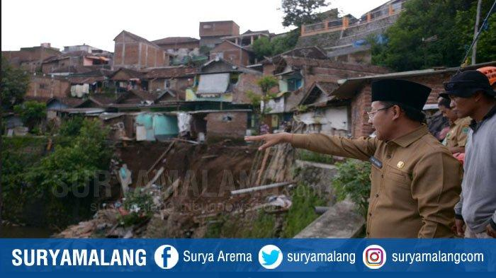 Plengsengan Brantas Longsor, Sutiaji Akui Tak Pernah Beri Izin Pembangunan Rumah di Pinggiran Sungai