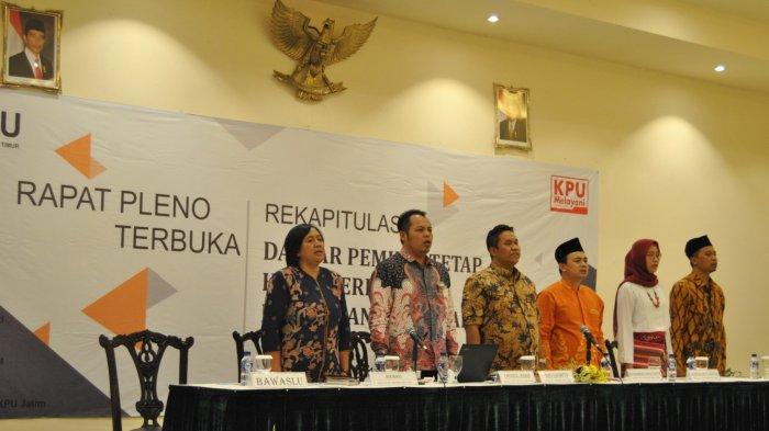 Ada 54 Ribu Pemilih Ganda Di Coret KPU Jatim Dalam Rekapitulasi Perbaikan DPT Pemilu 2019