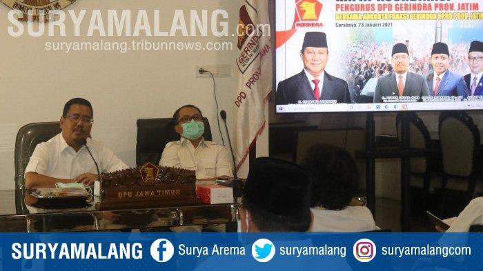Fraksi Partai Gerindra se-Jatim Rela Potong Gaji Demi Bantu Korban Bencana Alam