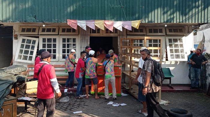 560 Personel Gabungan Jaga Eksekusi Bangunan di Jalan KH Hasyim Ashari, Kota Malang