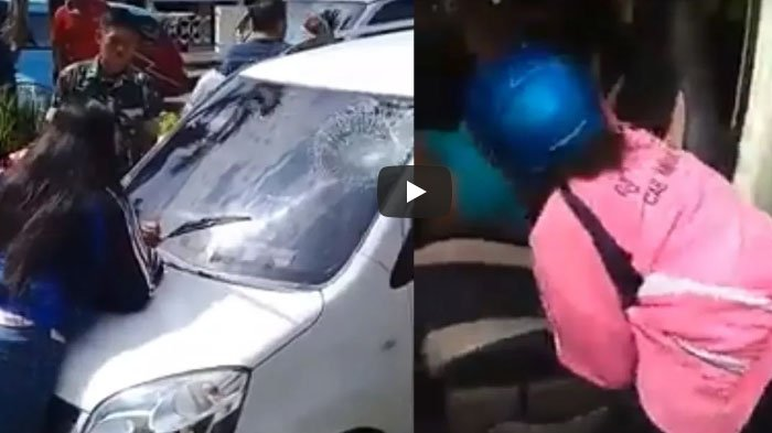 VIDEO : Istri Sah dan Anak Pergoki Polisi Berduaan dengan Pelakor, Sampai TNI dan Warga Turun Tangan