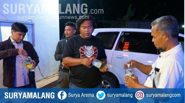 Razia Tempat Hiburan di Blitar, Polisi Sita 78 Botol Miras Tanpa Izin Edar
