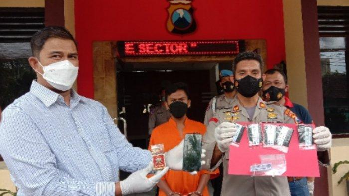 Anggota Polsek Klojen Tangkap Tukang Parkir yang Simpan Sabu-sabu dan Tembakau Gorila