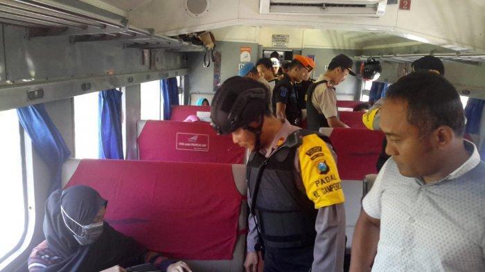 Polisi Razia Barang Bawaan Penumpang KA Di Kediri, Antisipasi Pergerakan Masa Ke Jakarta