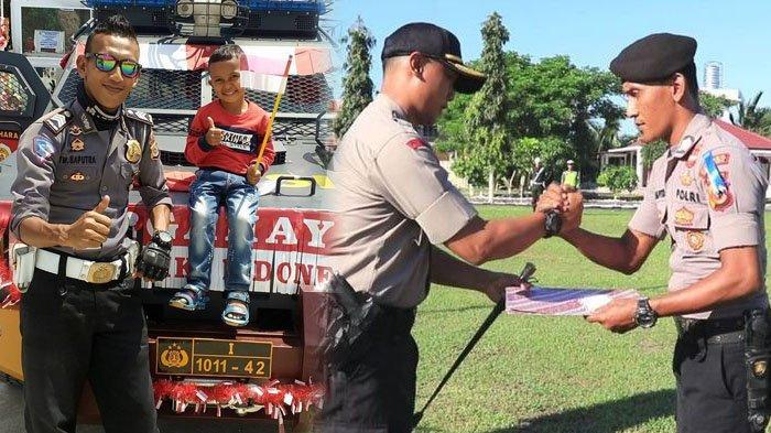 Happy Ending Kisah Polisi Penjaga Kotak Suara Sambil Gendong Anak yang Viral di Medsos, dapat Reward
